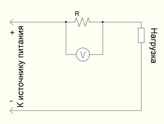 Измерение тока с помощью шунта