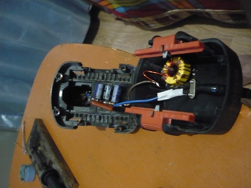 Внутренности новой батареи
